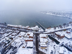 Into the Storm (Matt Champlin) Tags: dronephotography drone aerial aerialphotography djiphantom4 phantom4 storm snowstorm lakeeffect skaneateles skaneateleslake snow snowy weather lake fingerlakes thanksgiving travel friends family home cold 2016