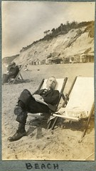 The beach by Alum Chine, Westbourne, Bournemouth, Dorset (Alwyn Ladell) Tags: dorset bournemouth westbourne alumchine beach deckchairs beachhuts 1920