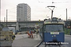 Mnchen 1970 Tram Linie 29 Rosenheimerstrasse Haltestelle Orleanstrasse (Pacific11) Tags: mnchen munich 1970 1971 vintage alt selten bilder bayern tram trambahn rosenheimer strasse haltestelle
