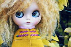Loving the fall mood (mademoiselleblythe) Tags: blythe custom zaloa mformonkey stellinna squeakymonkey stockholm fall october