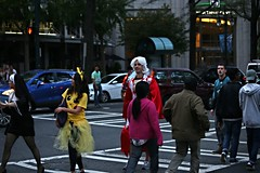 217   HALLOWEEN, CHARLOTTE, '16 (Lugrada) Tags: halloweenincharlotte happy fun hangingout instep costumes look attention me swinging shape shapely slim curves curvy cheeky hey smile joy enjoying connecting liking beauty beautiful paint makeup met meeting cool hair