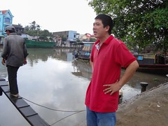 Captain Vu supervises (program monkey) Tags: vietnam mekong river delta cargo boat ben tre tra vinh captain vu