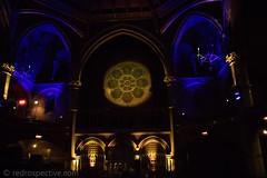 Union Chapel-1 (redrospective) Tags: 2016 20161121 london november2016 unionchapel blue church concert gig live musicians people rosewindow spotlights stainedglass woman yellow