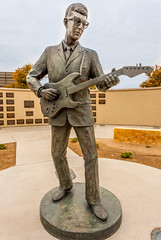 Lubbock's Hometown Boy (braniffelectra) Tags: texas lubbock westtexas buddyholly statue