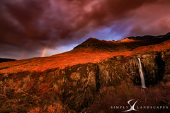 Eas Mor Waterfall, Isle of Skye 0195 (simply-landscapes.co.uk) Tags: isleofskye scotland skye sunlight landscapephotography simplylandscapes canon6d leefilters manfrotto cullins black torttenish ridge quiraing mountains mountainside weather rainbow