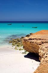 Socotra north coast (indomitablemachine) Tags: boats coast sand socotra water yemen hadhramautgovernorate ye