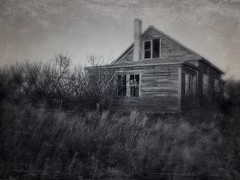 If these walls could talk... (DAJanzen) Tags: farmyard albertacanada prairie weathered farmhouse abandoned seenbetterdays blackandwhite textured moody iphone6splus