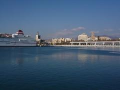 A perfect day (Ben Zabulis) Tags: spain europe malaga portofmalaga ferry blue sky port harbour marine maritime andalucia trasmediterranea malagapuerto 5photosaday bluesky mediterranean