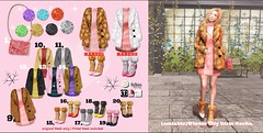 {amiable}Winter City Girls Gacha @the Chapter Four. (nodoka Vella) Tags: sl secondlife {amiable} nodoka truth nodokavella hair gacha tcf chapter four winter coat mesh fitted original