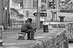 Fisherman (PIVAMA|photography) Tags: fishing fisherman visser vissen man rod hengel kade quai sitting zitten