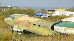 Douglas C-47A Skytrain Greece Air Force serial 92613 stored at Thessaloniki Airport, Greece (sirgunho) Tags: douglas c47a skytrain greece air force serial 92613 sud est se210caravelle vin registration elaiw stored thessaloniki airport se210 c47 dc3 dakota