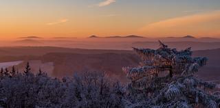 Blick vom Bieleboh ins Lausitzer Gebirge