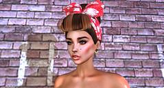 Queen of Disaster (Hanna Luna Naimarc: MVD♛ 2016 & MVW♛ Chile 20) Tags: virtualdiva hair virtual diva pinup style fashion bandana headband 50s queen disaster ldr lanadelrey hannahluna baubles earrings arrow gold new