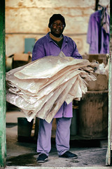 Mister Moussa, Factoryworker I (johann walter bantz) Tags: human documentaryphotography f14 35mm nikond4s 93 europe france rgionparisienne everyday work social socially documentary documentaire portrait usine factory