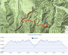 038 Map of the Hike (saschmitz_earthlink_net) Tags: 2016 california devilspunchbowl losangelescounty valyermo park hike hiking