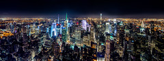 NYC from Empire State Building (Mark Wingfield) Tags: nikon night nyc nyc2016 d610 dark city cityscape sky skyline new york light lowlight long low exposure 8mm f8 outdoors outside architecture outdoor empire state building water waterfront