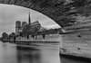 Cathédrale Notre Dame de Paris - Pont de l'Archevêché (Aleem Yousaf) Tags: ilobsterit monochrome blackandwhite cathédrale notre dame paris pont larchevêché france historical gothic roman catholic architecture overcast sky clouds long exposure lee filter little stopper neutral density nikon d800 îledelacité fourth arrondissement bridge seine river