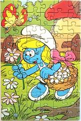 Schlumpfine (Peyo) (Leonisha) Tags: puzzle jigsawpuzzle schlumpf schlumpfine schtroumpfette smurf
