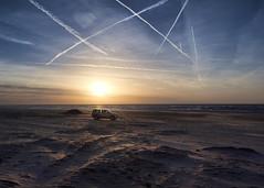 Beach car (Peter Trott) Tags: car sunset castricum beach explore