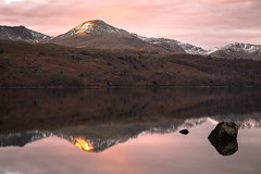 Last light (Sandy Sharples) Tags: mountains lake lakedistrict snow goldenhour sunset cumbria england autumn november nature reflection