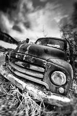 Opel Blitz (Usstan) Tags: wreck autumn sand nikon lens sigma old mreogromsdal rust outdoor stuck blitz bw opel seasons locations sunnmre rsta monochrome harsh norge car bokeh blackandwhite shadows d7000 norway 816mm no