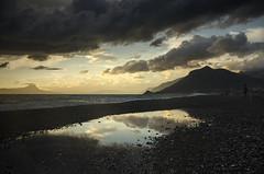 Il cielo in una pozzanghera - The sky in a puddle (Immacolata Giordano) Tags: praiaamare calabria italia italy tramonto pozzanghera nikond7000 sunset