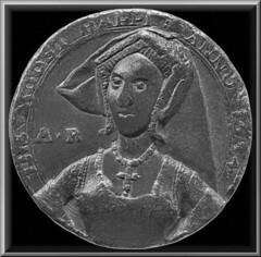"Anne Boleyn Medallion 1534  -  "" The Most Happi "" . (Lenton Sands) Tags: anneboleyn 1534 medallion mosthappi britishmuseum weddingday dress crucifix necklace"
