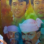 "Aung San Suu Kyi with Mustache Brothers <a style=""margin-left:10px; font-size:0.8em;"" href=""http://www.flickr.com/photos/14315427@N00/6924206078/"" target=""_blank"">@flickr</a>"