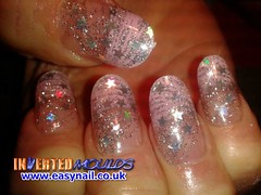 Cheryl Cotton Candy Pink (invertednailsystems) Tags: uk pink orange black art yellow glitter training silver gold amazing neon pretty im nail powder course nails salon technician extension inverted false ims extensions nailart courses moulds enuk invertednailsystems easynail easynailuk