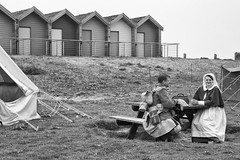 Blyth Battery 2013 (scarlet_poppy) Tags: world 2 beach war battery huts reenactment blyth