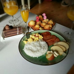 Breakfast in Bed on my birthday =) (hellaOAKLAND) Tags: birthday friends breakfast korea pyeongtaek