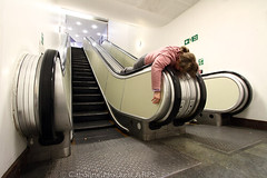 Face Down Tuesday - Silent Escalators Edition. (cazphoto.co.uk) Tags: selfportrait london me escalator basement bbc televisioncentre fdt canoneos7d facedowntuesday canon1022mmefsf3545usm