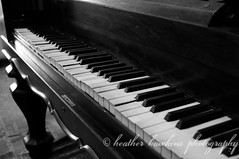 Ivories (HeatherHawkinsPhotography) Tags: old bw white black piano
