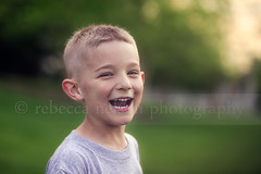 Hilarity (Rebecca812) Tags: family boy sunset summer portrait cute love fun outdoors amusement kid funny child sweet candid teeth blueeyes happiness laugh shorthair cheerful reallife greengrass blondhair toothygrin canon5dmarkii rebecca812