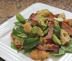 Avocado, bacon and croutons (forgetdietingforever) Tags: food cooking recipe avocado bacon salad diet weightloss weight dieting