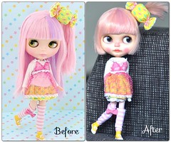 Before & After...*Strawberry Muffin**