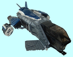 Dragonfly Dropship - Title (.Jake) Tags: lego space military future spaceship vtol
