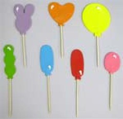Baloon on stick assorted 3cm (stick approx 5cm) (sweetinspirationsaustralia) Tags: cupcaketoppers