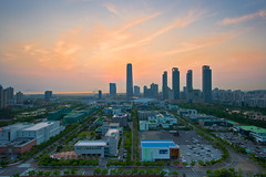 Songdo from the Get Pearl Tower #3 (ISO__100) Tags: korea incheon   technopark  songdo