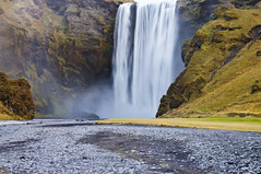 Iceland Seljalandsfoss waterfall (RobOutar) Tags: city autumn mountains fall water landscape volcano waterfall iceland october sony rob glacier geyser 2012 outar a55