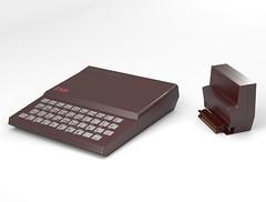 ZX81 & 16K Ram Pack rendered by Paul Beattie 2013 (Rick Dickinson) Tags: sinclair zx81 zx81rampack