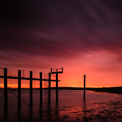 The Last Post (Scott Baldock) Tags: sunset england abstract colour night island long exposure cloudy essex tilbury lightroom southendonsea canvey