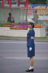 Pyongyang Traffic Girl (Joseph A Ferris III) Tags: blue cute sexy uniform northkorea pyongyang trafficgirl