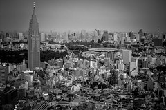 Lost In Translation (lothar1908) Tags: bw panorama japan skyline canon hotel tokyo case vista parkhyatt giappone architettura biancoenero città esterno