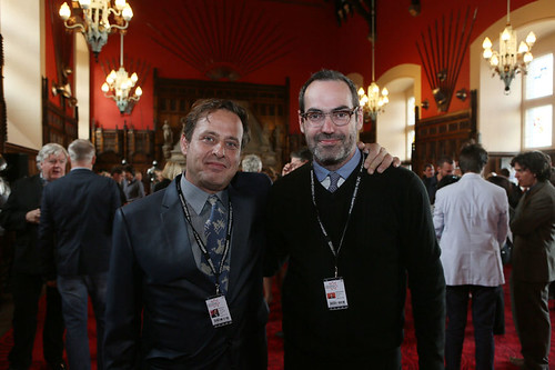 Richmond Arquette and Chad Hartigan at the Edinburgh Castle Reception