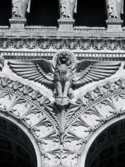 Legacy of Mythology (K.G.Hawes) Tags: blackandwhite white black france building church statue architecture angel buildings de french religious wings cathedral lyon basilica religion wing creative statues commons christian notredame cc angels creativecommons christianity notre dame winged angelic église eglise lyons basilique fourviere fourvière notredamedefourviere
