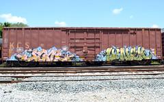 June Lunch (NoComplysAreIn) Tags: railroad art train graffiti boxcar freight moniker
