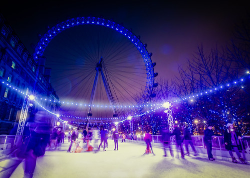 Ice Skating at London Eye by Lima Pix, on Flickr
