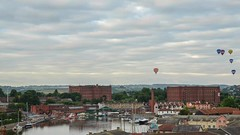 Saturday Mass Ascents Timelapse, Bristol International Balloon Fiesta (Kenneth Cox) Tags: england clouds balloons bristol timelapse video cityscape unitedkingdom tripod overcast stmaryredcliffe bristolcathedral ss