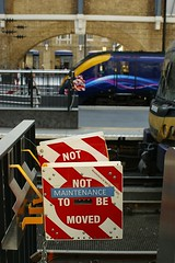 NOT TO BE MOVED #2 (gooey_lewy) Tags: london station electric cross diesel board capital perspective first railway trains class 180 kings be moved 365 hull locomotives connect